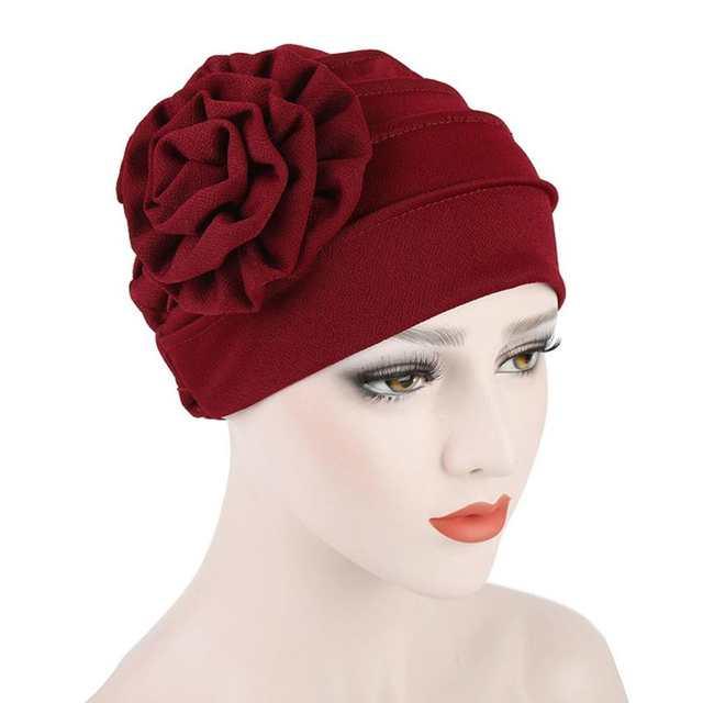 90c5305d564 2018 Women s Cap Floral Lace Lady Turban Hat Spring Summer Women s Hats  Hairnet Muslims Chemo Cap