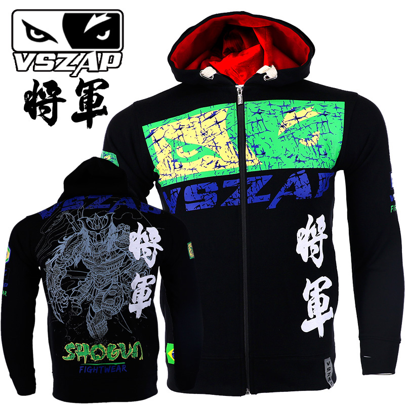 VSZAP Sports Jacket Fight Casual Sweatshirts Boxing Muay Thai Warm Mma Cloth