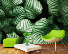 Beibehang Modern 3d wallpaper Nordic Tropical leaves Banana leaf Living room sofa background wall wallpaper for walls 3 d tapety beibehang black blue white leaves large petals high grade pure paper 3d wallpaper living room background wallpaper for walls 3 d