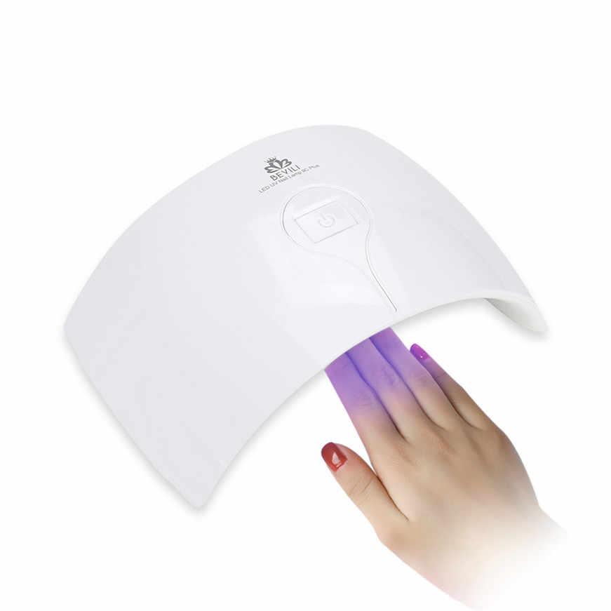 מנורת ציפורניים 24 W מחשב & ABS האיחוד האירופי אור מנורת מייבש UV ג 'ל ציפורניים מניקור ציפורניים ג' ל פולני מייבש מכונה אמנות