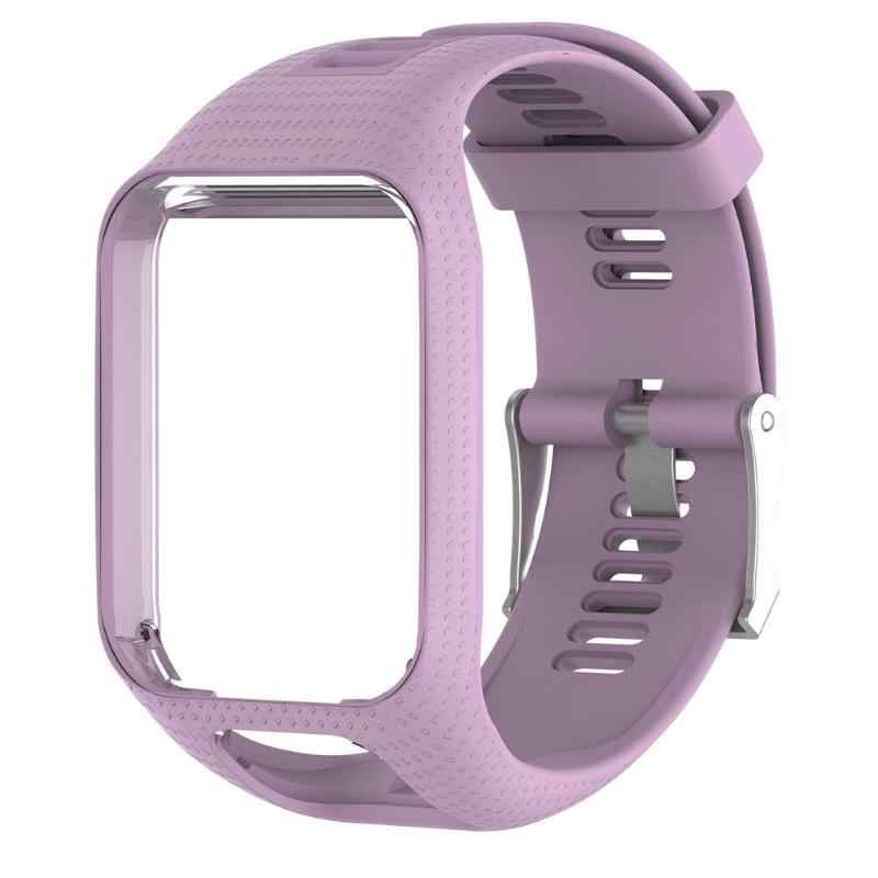 Pasek silikonowy pasek rama wodoodporny pasek do zegarka bransoletka zamienna do TomTom Runner 2/Spark/Spark 3/Adventurer