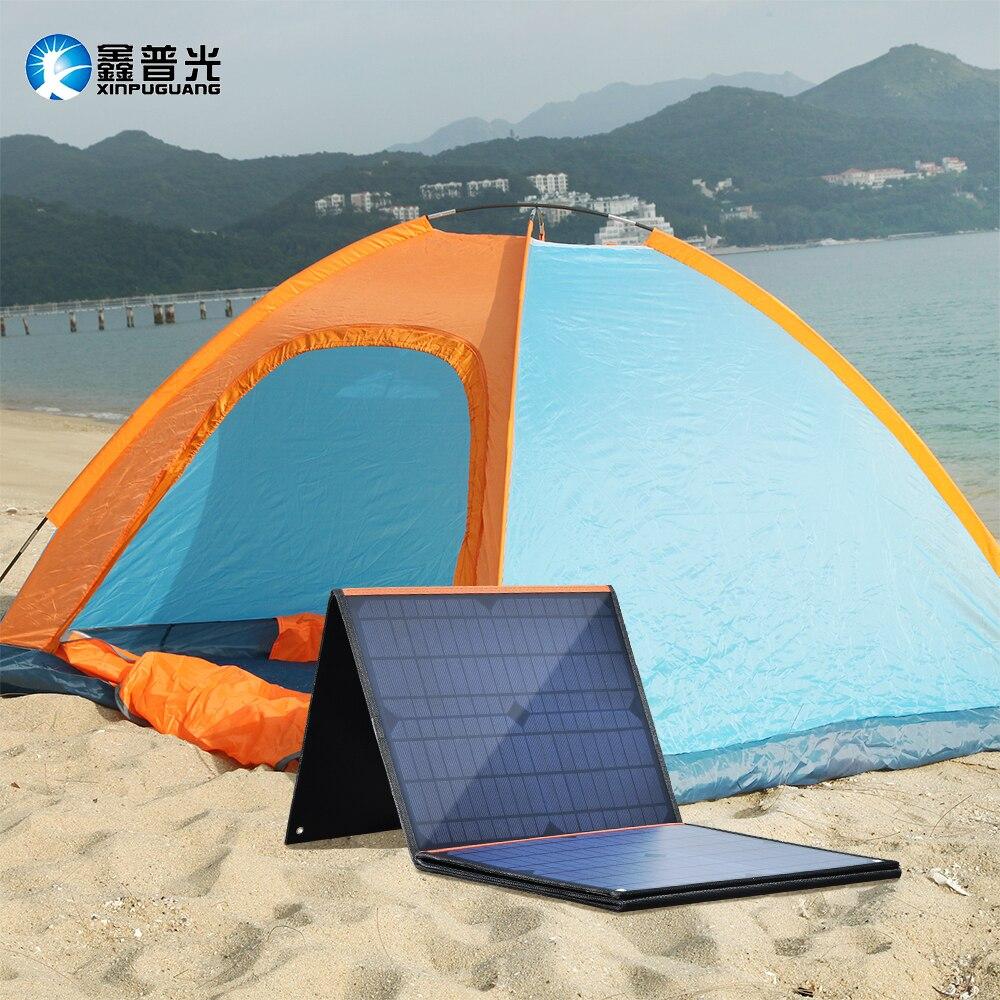 100W 18V panneau solaire Portable pliable sac solaire DC 5V USB sortie pour voyage en plein air Camping voiture bateau 12v chargeur de batterie - 2