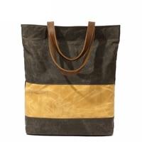Ita Bag Ladies Military Leather Handle Waxed Canvas Shoulder Baobao Pack School BookBag Summer Vintage Sling Bags for Women 2018