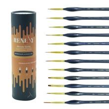 12 chiếc Mịn Vẽ Tay Họa Tiết Móc Dây Chuyền Bút Nghệ Thuật Tiếp Liệu PHÚT Phim Nghệ Thuật Vẽ Bút Lông Vẽ Chổi Nylon acrylic Bàn Chải