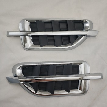 For GMT800 GMC Yukon XL Denali 2000-2018 New molding decoration Side tuyere Chrome plated car silver plating Modified tuyere Tim