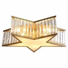 цена на Post-modern Ceiling Lamp Light Luxury Five-pointed Star Study Bedroom Ceiling Light For Living Room Bedroom Aisle Corridor