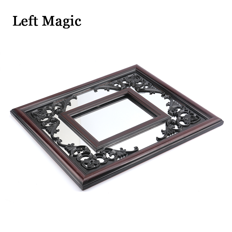 Silk Scarves Through Mirror Magic Tricks Mirror Magic Props Gimmick Illusions Professional Magician Accessories Mystory Joke