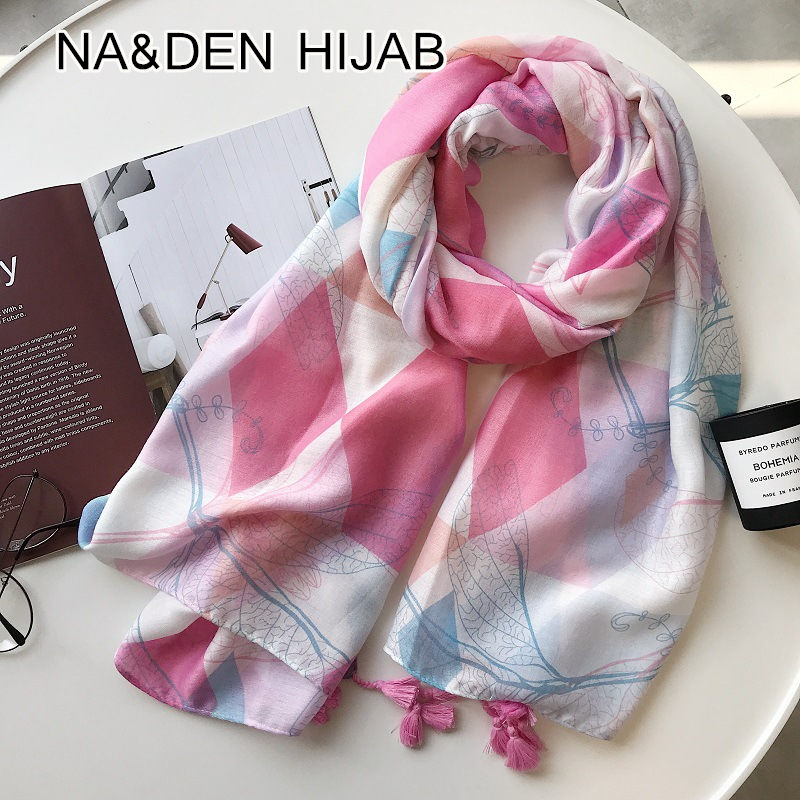 2019 New Fashion scarf Geometric print scarves shawls brand pashmina soft muslim hijab winter muffler lady