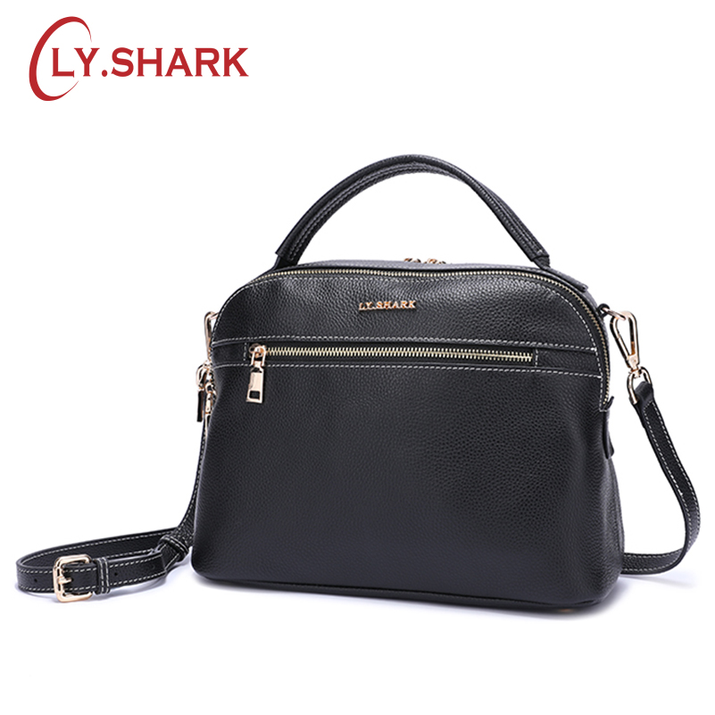 LY.SHARK Messenger Bags Bags For Women 2018 Famous Brand Women Shoulder Bag Handbag Female Bag Ladie Genuine Leather Crossbody crystal case for apple macbook air 13 3 11 pro 13 12 15 retina laptop print cover 2016 2017 new touch bar model keyboard cover