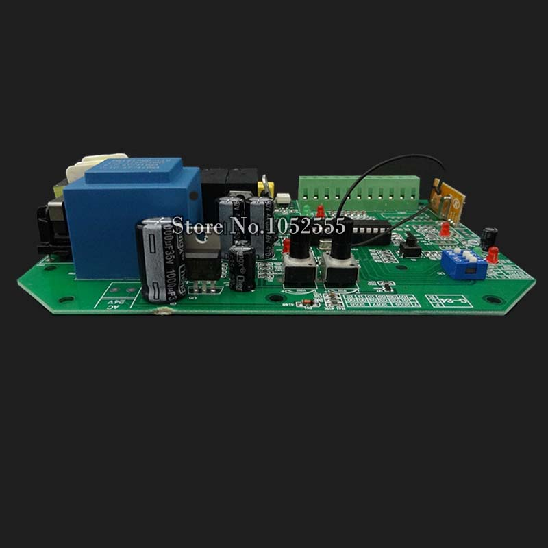 ФОТО High Quality AC sliding gate opener control board with 2pcs remote control,learning code