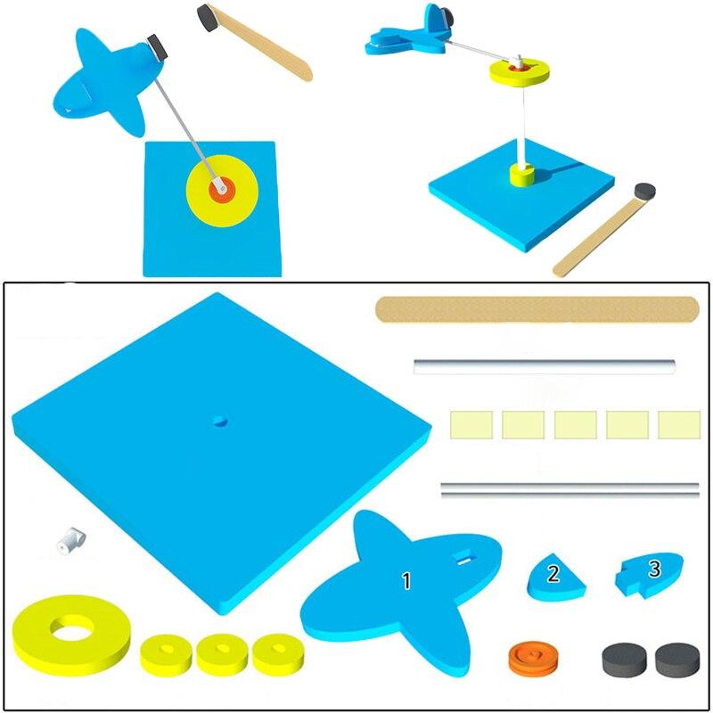 DIY поворотный магнит модель самолета разведки летящего самолета малыш/детская игрушка