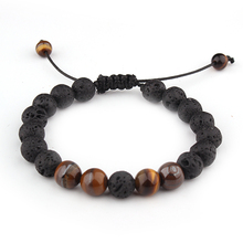 Aromatherapy jewelry lava stone essential oil diffuser bracelet braided aromatherapy
