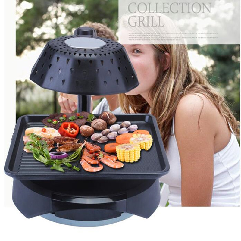220V Infrared Smokeless Household Electric Grill Machine Non stick Grade Barbecue Grill For Party BBQ