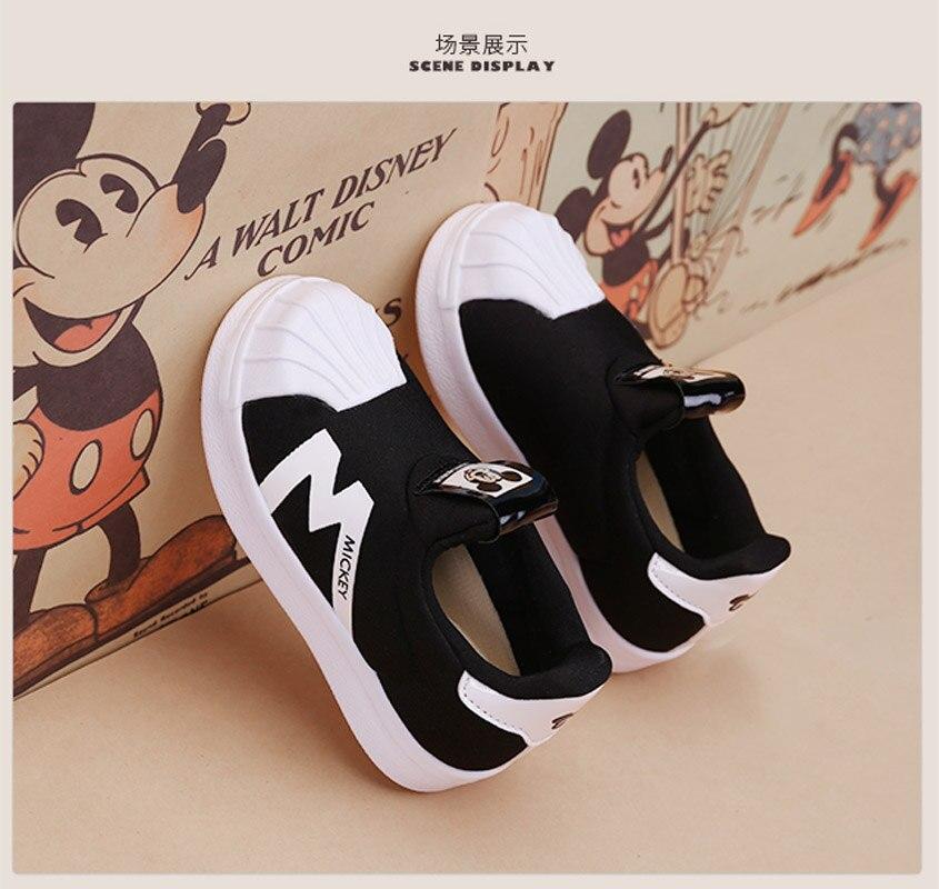 Disney filles garçons chaussures printemps bambin baskets en cuir confortable enfants chaussures 2019 nouvelles filles formateurs de mode