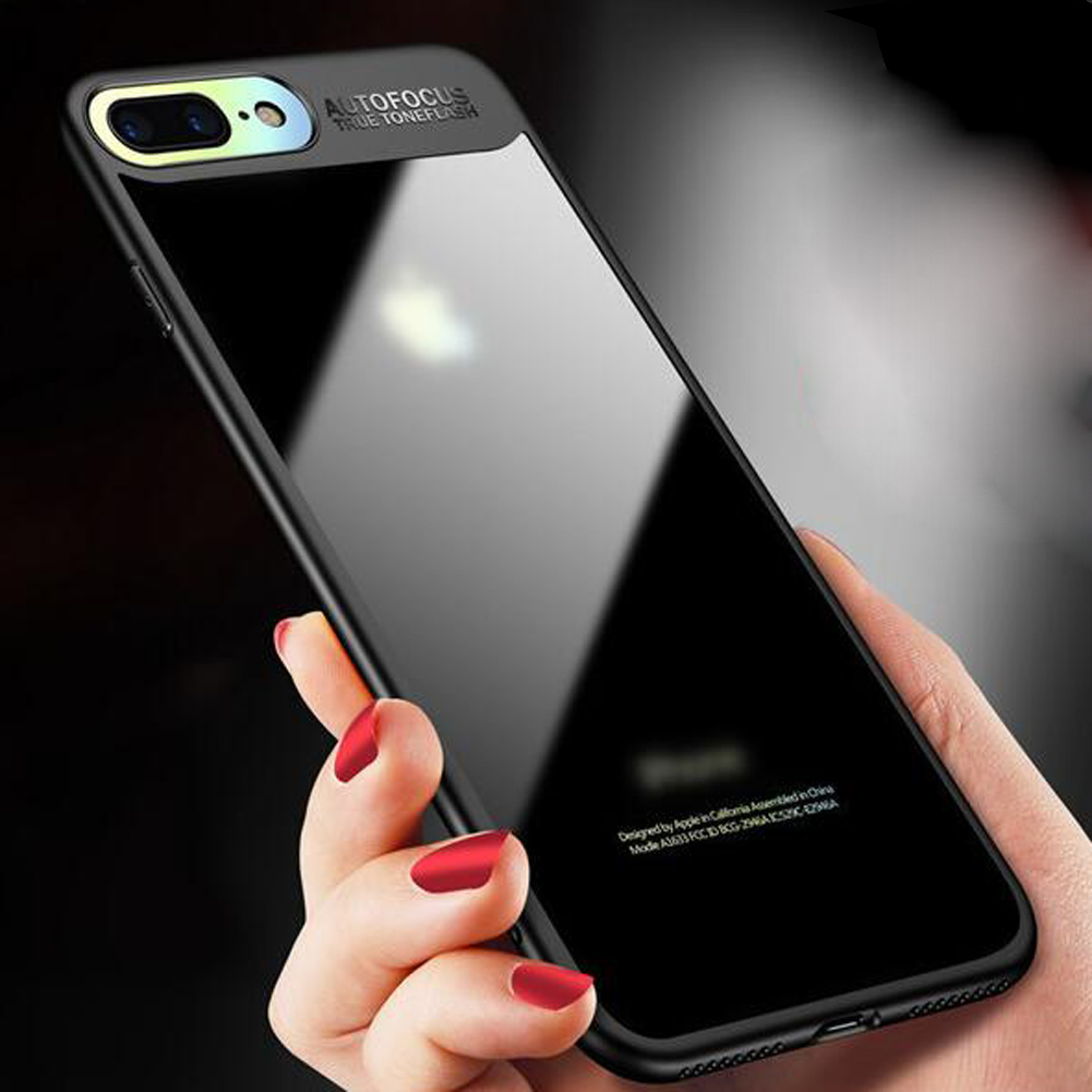 Auto Focus Hybrid Clear 360 Degree Shockproof Crystal Tough Plastic Armor Phone Cases Covers for iPhone 8 Plus X Ten Case