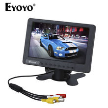 Eyoyo S701 7″ inch LCD TFT Color Monitor Display Video Audio BNC AV CVBS Input DC 12V For Car LCD TV DVR Built-in Speaker