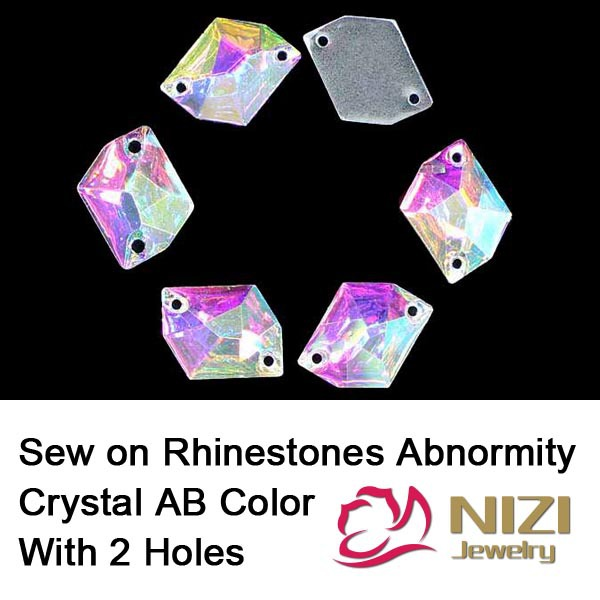 Sewing Crystal Rhinestones Flatback Abnormity Shape Crystal AB Color Rhinestones For Wedding Decoration New Strass For Clothes resin rhinestones flatback stone shape crystal ab color sew on rhinestone for wedding dress fashion crystal strass for clothes