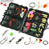 128pcs Fishing Accessories Hooks Swivels Fishing Sinker Stoppers With Box Set