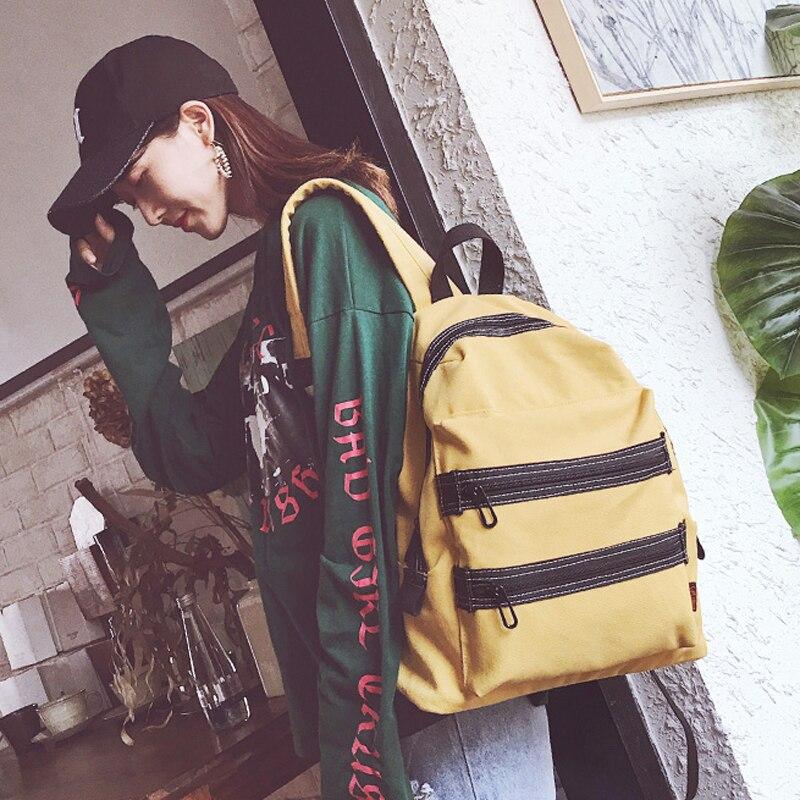 2018 new wild simple travel canvas backpack female large shoulder bag aliwilliam 2017 new backpack female wild