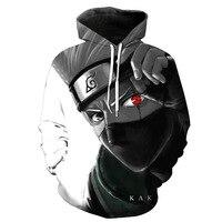 Autumn Winter 3d Sweatshirts Men/Women Hoodies With Hat Print Naruto Hatake Kakashi Men's Hooded Hoody Tops plus size 6XL
