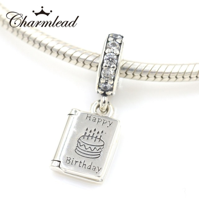Charmlead 925 Sterling Silver Best Wishes Charms Happy Birthday Bead