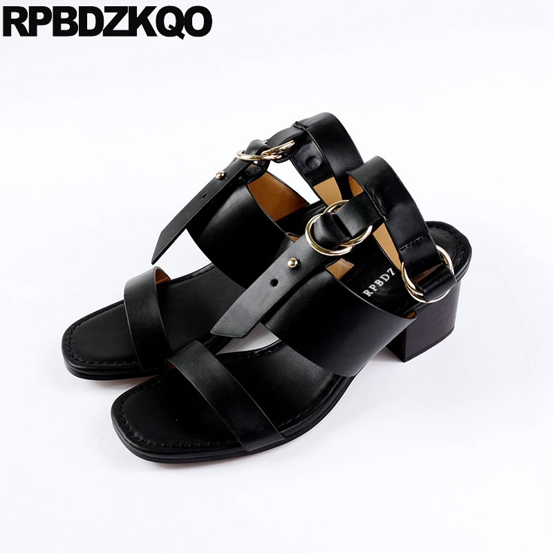 Slingback Pumps Strappy High Heels Thick Vintage Gladiator Sandals Square Open Toe Roman Women Shoes Famous Brand Block T Strap sandals metal strap pumps square toe beige vintage medium 2017 women shoes high heels size 33 slingback belts block chinese