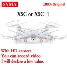 Original SYMA X5C-1 (versión de actualización Syma x5c) 2.4G Profesional aérea Cámara RC Quadcopter Drone Con Cámara HD Dron de Juguete de Regalo