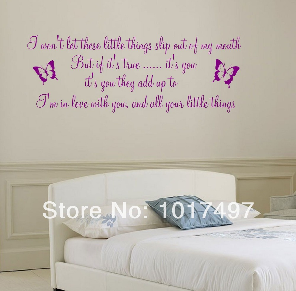 Large size 110x40cm 1d one direction song lyrics little things large size 110x40cm 1d one direction song lyrics little things wall decal stickergirls room wall decor free shipping m2034 in wall stickers from home amipublicfo Gallery