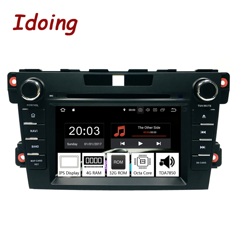 Idoing 2Din Steering Wheel Android 9 0 Fit mazda cx 7 CX 7 CX7 Car DVD