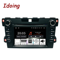 Idoing 2Din Steering Wheel Android 9.0 Fit mazda cx 7 CX 7 CX7 Car DVD Player 8Core 4G+32G GPS Navigation IPS Screen WiFi OBD2