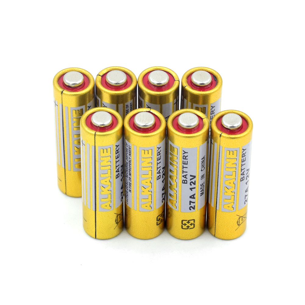 8pieces 27A A27 12 V Alkaline Dry Battery G27A MN27 MS27 GP27A A27 L828 V27GA Home Alarm System Security Device Dry Battery