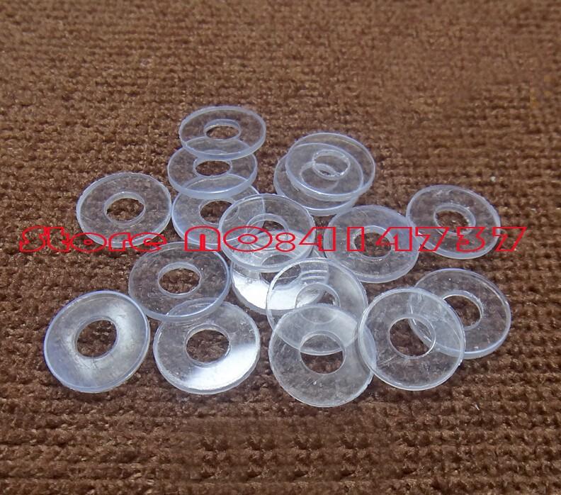 100pcs/lot M1.4*4*0.3 M1.4 plastic pvc flat washer gasket-in Washers ...
