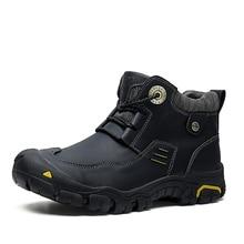 HOMASS ผู้ชายรองเท้าผ้าใบกลางแจ้งรองเท้ากันน้ำรองเท้าหนัง Mens Breathable Nonslip รองเท้าปีนเขารองเท้าล่าสัตว์