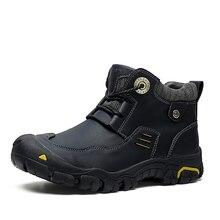 HOMASS גברים של נעלי ספורט חיצוני נעלי הליכה עמיד למים עור אמיתי נעלי Mens לנשימה Nonslip טיפוס נעלי ציד מגפיים