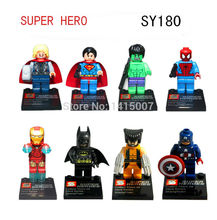 Super heroes Brinquedos minifigure The Avengers figures SY180  eductional plastic building block sets toys Compatible With