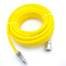 8mm x 5mm Yellow PU Straight Pneumatic Hoses Air Compression Tube 10M/15M/20M with Quick Metal Joints