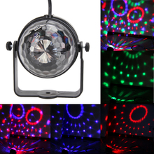 Mini RGB LED Crystal Magic Ball Stage Light Effect Lighting  Party Disco Club DJ Light Show Decoration Colorful Lighting Lamps