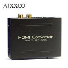 AIXXCO HDMI Audio Extractor Сплиттер SPDIF RCA Стерео L/R Аналоговый Выход ConverterSplitter Адаптер с Адаптером Питания
