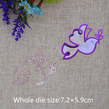 2019 New Arrival Dove Olive Branch Cutting Dies Stencil DIY Scrapbook Embossing Decorative Paper Card Knife Mould Craft 72x59mm