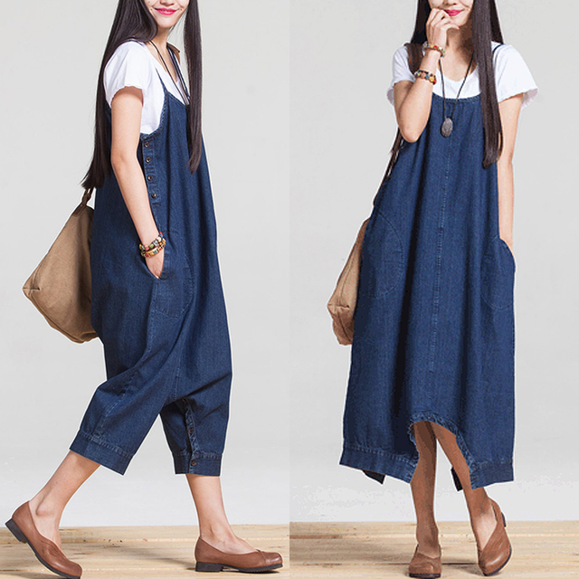 2016 summer maternity sale promotion women's overalls jeans pants fashion lady denim jumpsuits female rompers big trousers