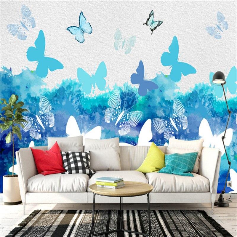 Custom 3 D Modern Wallpaper Desktop Butterfly Wallpaper 3d
