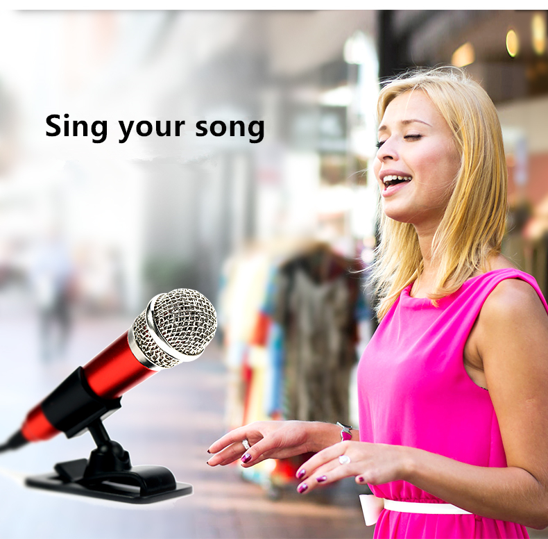 Person - Remax Mini portable Sing Song Karaoke Microphones speaker