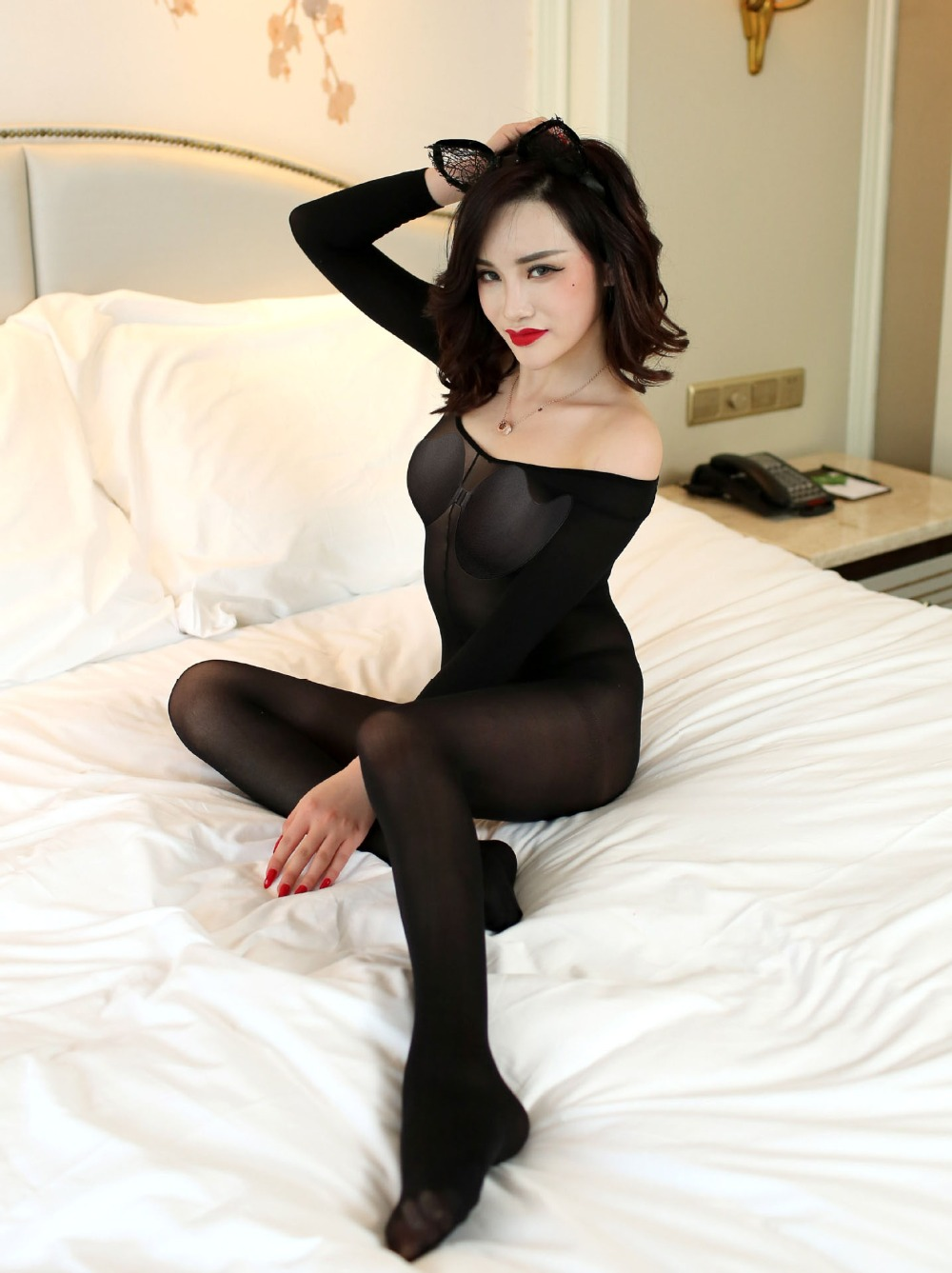 Hot Women Sexy Bodystocking Crotchless Body Stocking Sexy Lingerie Fishnet Bodysuit Sexy Underwear Black Porn Erotic Sex Clothes 1