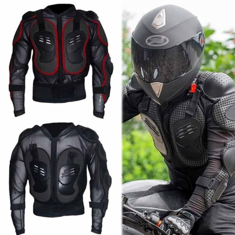 Motorcycle Full Body Armor Protective Jacket Guard ATV Motocross Gear Shirt Red Size M For Honda CBR1100XX CBR 1100 Super Blackbird