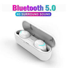 AIR01 TWS Earphones Bluetooth 5.0 Wireless Low Power 6D Stereo Hand-Free Sport Earbuds Lightweight Headset With Mic
