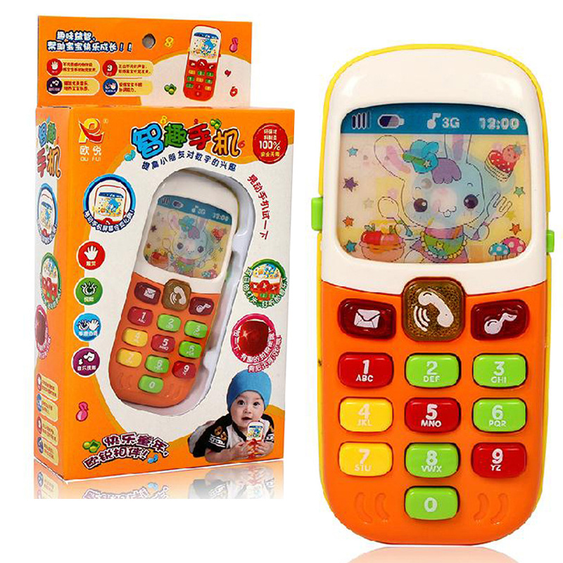 1PC Cute Electronic Phone For Kids Baby Mobile Elephone Educational Learning Music Machine Games Toys For Child Color Randomly