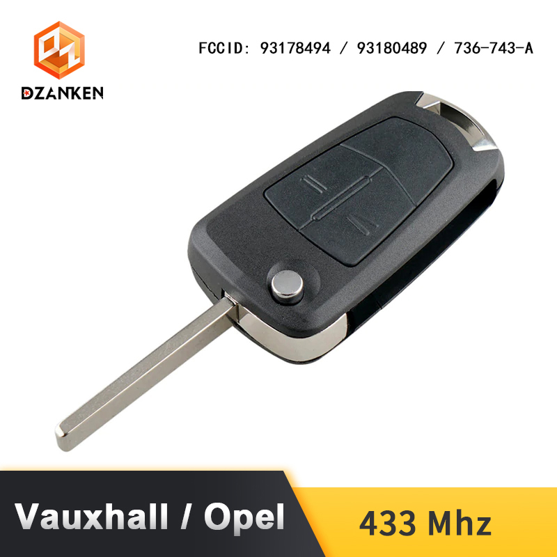 Image 2 - Remote Car Key Cover for Opel Astra H Zafira B /Vauxhall with Transponder Chip  & Uncut DIY Blade 433Mhz Opel Astra Car Key Suit-in Car Key from Automobiles & Motorcycles