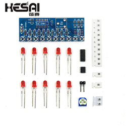 Smart Electronics Kits NE555+CD4017 Light Water Flowing Light LED Module DIY Kit