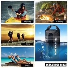 KastKing 10L 20L 30L Portable Outdoor Waterproof Dry Bag Durable 500D PVC Hiking,Camping,Swimming,Fishing Bag Free Drop Shipping