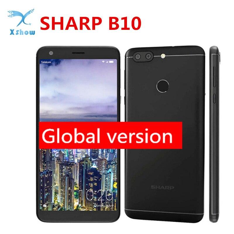SHARP B10 Smartphone RAM 3GB ROM 32GB 5 7 inch 18 9 HD 1440x720 pixel MTK6750T
